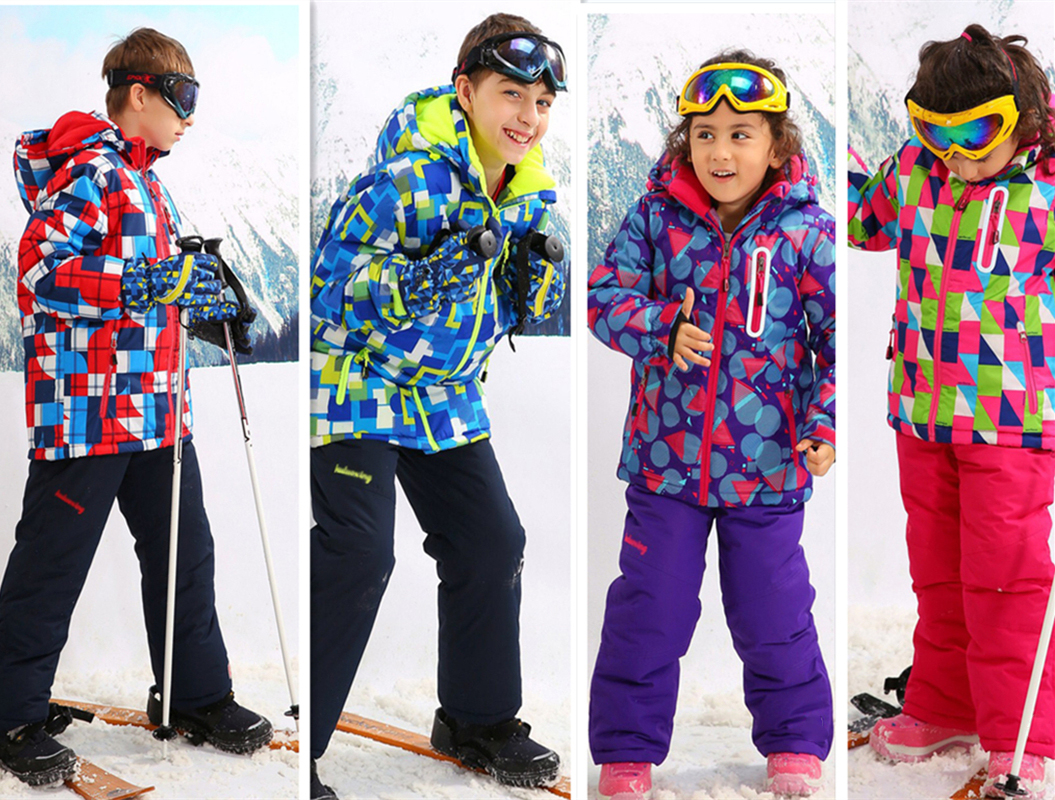 Children Outerwear Warm Coat Sporty Ski Suit Kids Clothes Sets Waterproof Windproof Girls & boys Jackets for -30 Degree 3-16T waterproof index 15000mm warm coat ski suit windproof baby boys jackets kids clothes sets children outerwear for 3 16 years old