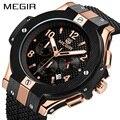 MEGIR Chronograph Sport Watch Homens Criativos Big Dial Militar Do Exército Relógios de Quartzo Homens Relógio Relógio de Pulso Horas Relogio masculino