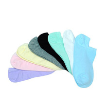 10pcs/lot Womens boat socks candy color fashion casual cotton non-slip sweat-absorbent breathable invisible 1913
