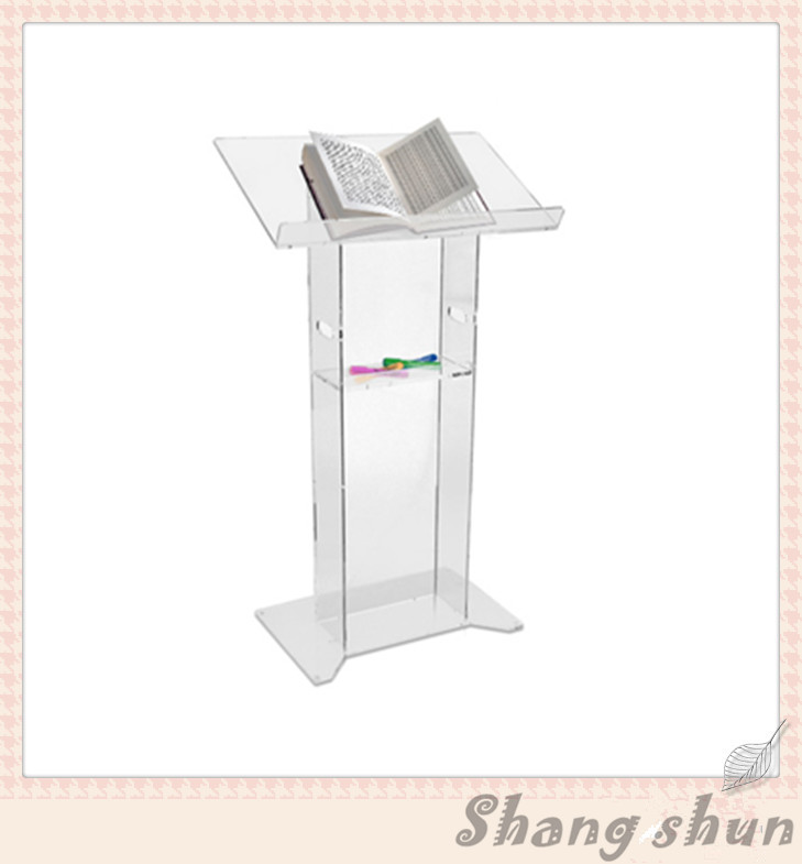 Modern Custom Perspex Church Podium/Pulpit Modern Acrylic Lectern Podium Pulpit