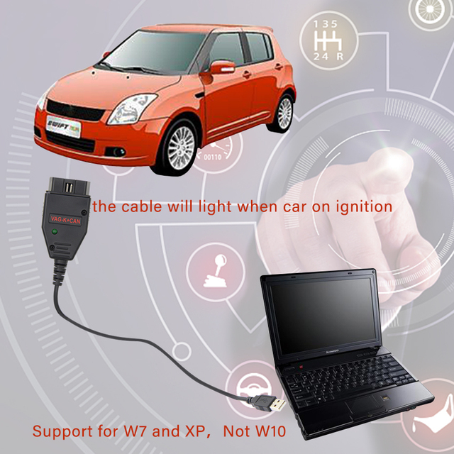 for VAG K+CAN Commander 1.4 with FTDI FT232RL PIC18F258 Chip OBD2 Diagnostic Interface  Cable for VW / AUDI / SKODA / SEAT