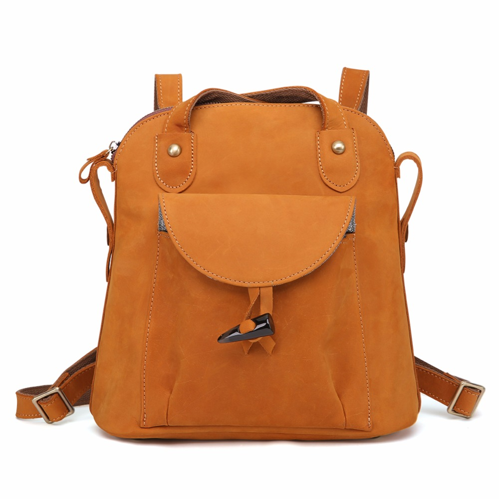 e68e5cd00c JOYIR New designer fashion crazy horse brown genuine leather backpacks  woman vintage style women backpack bolsas mochila - aliexpress.com -  imall.com