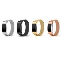 Banda de Metal para Fitbit Cargo 2, Accesorios de La Joyería para Fitbit Cargo 2 HR-Reemplazo Pulsera de Acero Inoxidable con magnética