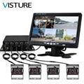 Видеорегистратор для грузовика Dash camera 4 канальный Cam резервный видео комплект для звукозаписи CCTV монитор заднего вида Автомобильный автобу...