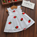2017 new Cute Baby Girl Dress Cotton Strawberry Dress flower Children kids Clothing 4-24M dress
