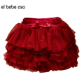 el bebe oso Girls Tutu Skirts Baby Ballerina Skirt Children Chiffon Fluffy Casual Skirt Cute Bow Princess Girl Party Skirts XL57