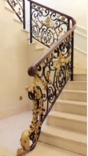 Wrought Iron Handrails For Outdoor Steps Gates And Railings Iron | Iron Handrails For Outdoor Steps | Deck | Simple | Outside | Free Standing | Galvanized Iron