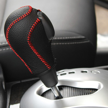 цены на Free Shipping High Quality Cowhide Top Layer Leather Automatic Gear Shift Collars Gear Cover For Renault Koleos  в интернет-магазинах