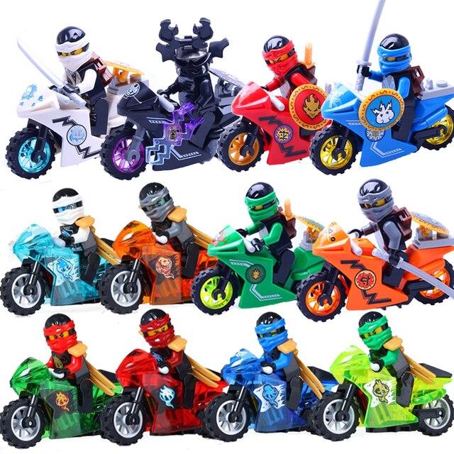 [New] 258A Hot Ninja Motorcycle Building Blocks Bricks toys Compatible legoINGly Ninjagoed Ninja for kids gifts