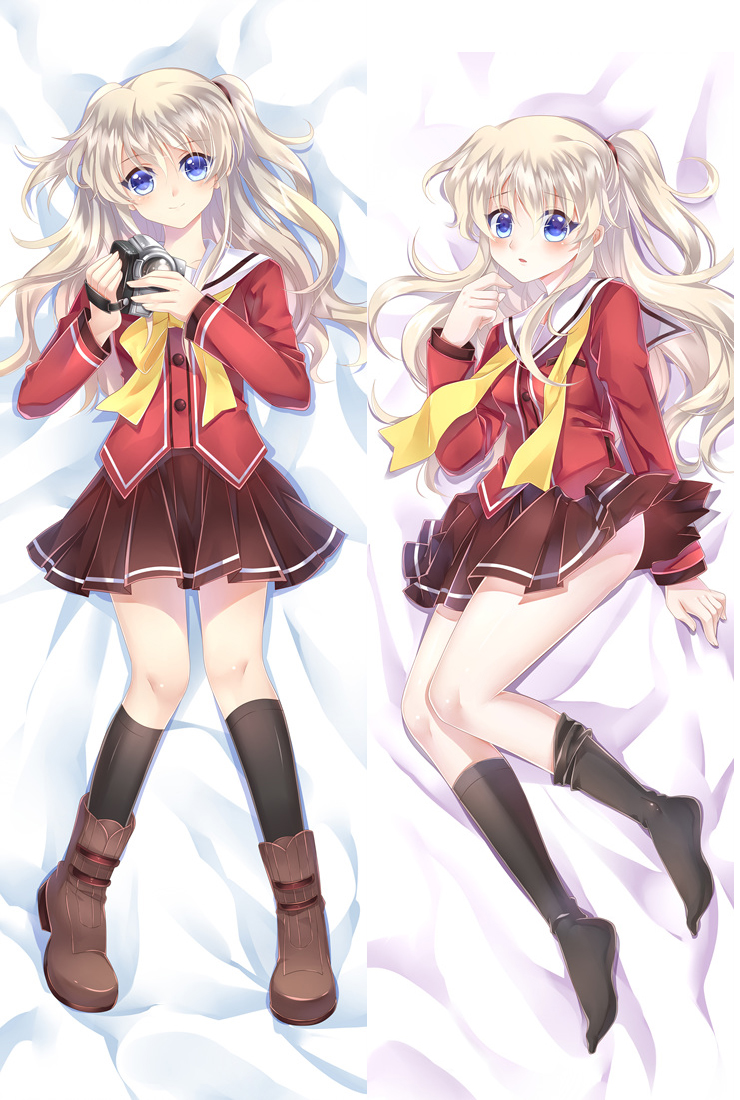 Japan anime pillowcase charlotte characters sexy girl tomori nao otaku dakimakura throw pillow cover hugging body pillowcase in pillow case from home