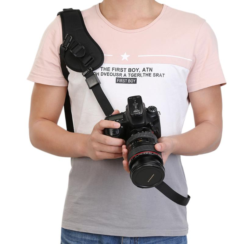 Camera Anti-Slip Quick Rapid Shoulder Sling Belt with Safety lock alloy hook buckle Neck Strap for DSLR Cameras