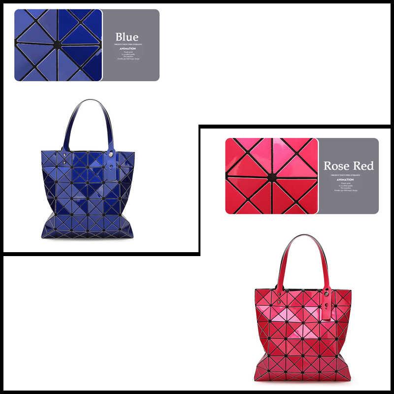 SWDF Novas Mulheres Saco Bolsos Mujer de Marca Famosa 2019 Geométrica Bolsa de Couro PU Saco de Ombro Das Mulheres A Laser Simples Dobrável bolsa