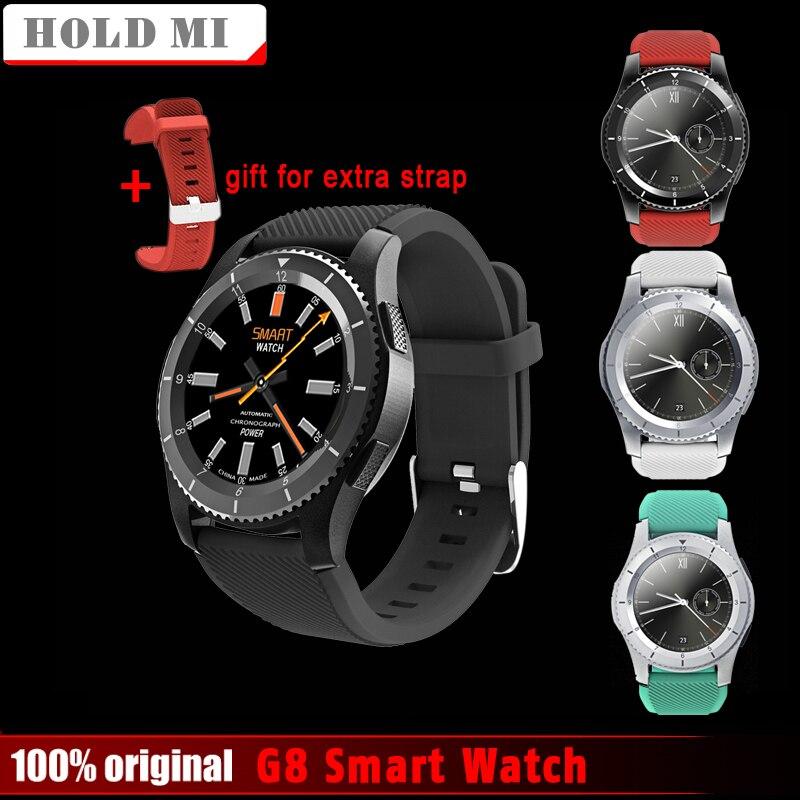 Удерживайте Mi G8 Смарт часы Bluetooth 4.0 Поддержка sim-карты часы с call сообщение Re Mi nder сердечного ритма Мониторы smartWatch Android IOS