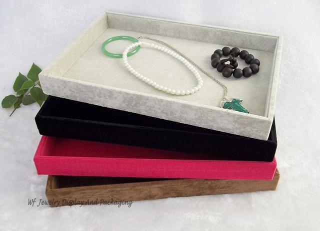 Super Velvet Jewelry Display Tray FLat Tray Jewelry Storage Box