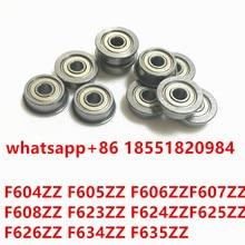 F624ZZ ABEC-1 (10PCS) 4x13x5MM Flanged Ball Bearings