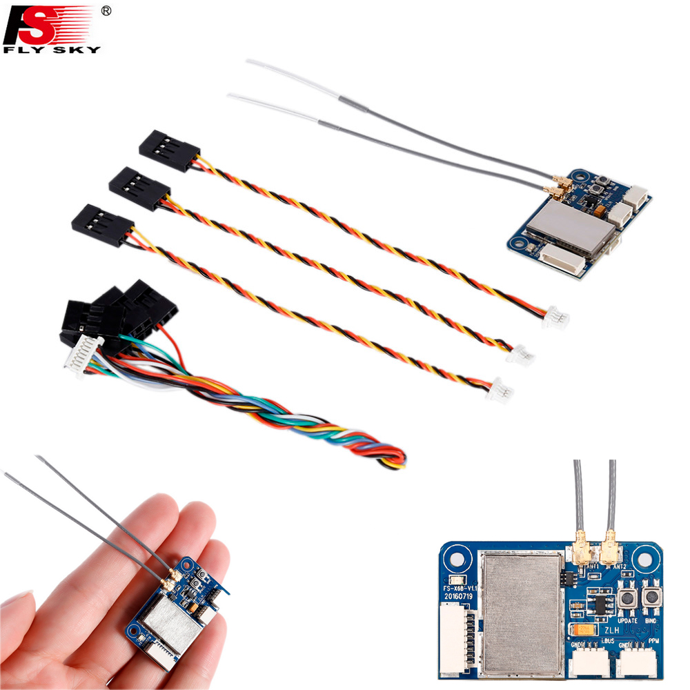 Original Flysky FS-X6B FS X6B 2.4G PPM I-BUS 6CH Receiver For Rc Quadcopter FS-I6X FS-i4 FS-i6 FS-i6S Transmitter