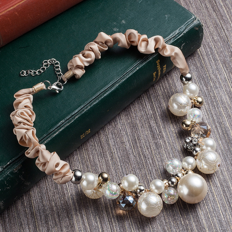 Statement Necklaces for women Fashion Imitation Pearl Necklace Women Collar Choker Beads Statement Necklaces & Pendants women exaggerated enamel flower layered chain big imitation pearl necklace perfume women beaded chunky statement necklace