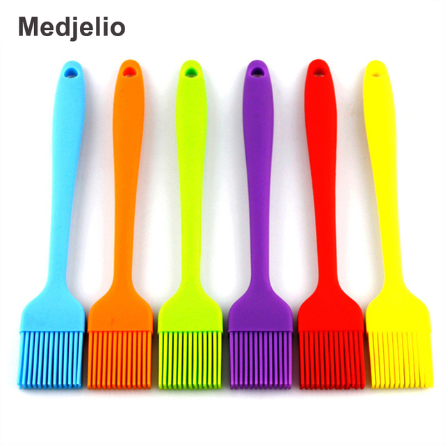 Medjelio Silicone BBQ Cake Pastry Brush Tools Eco Friendly Kitchen Barbecue  Bread Oil Cream Pizza