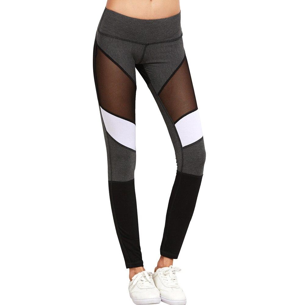 226f6c57acee7 Hot sale mesh splice fitness leggings trousers for women athleisure 2017  jeggings grey black slim legging pants female Pants 320-in Leggings from  Women's ...