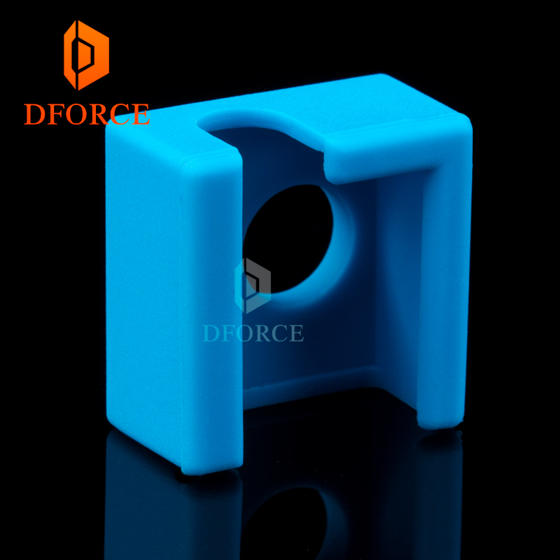 DFORCE 5pcs high quality cartridge heater bock silicone socks socks for MK9 heated block for MK9 hotend I3 CR10 nozzle in 3D Printer Parts Accessories from Computer Office