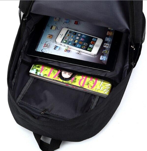 adolescente anime oxford mochilas unisex saco de viagem portátil presente