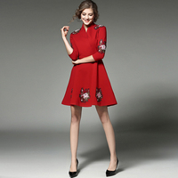 Early Autumn The New Europe Will Spot V Neck Dress Of 7 Minutes Of Sleeve With