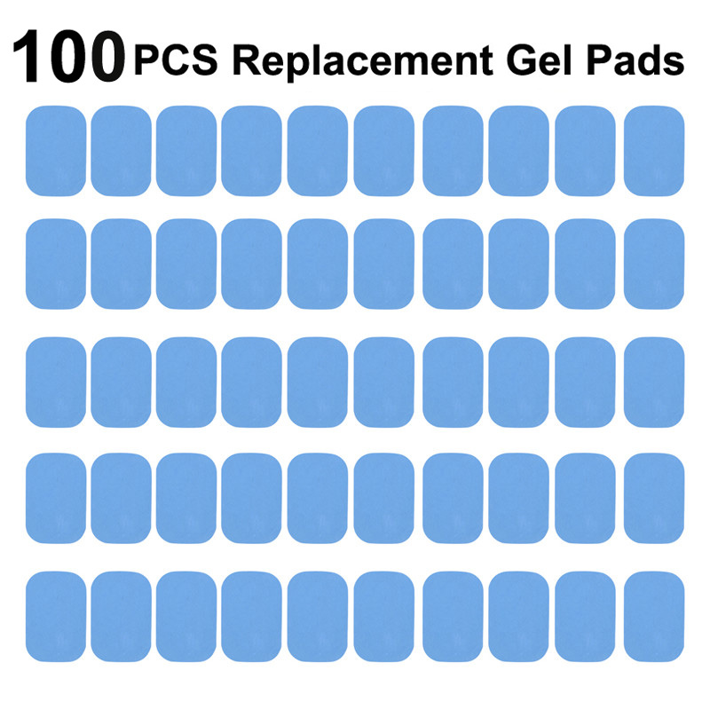 50/100Pcs Replacement Fitness Gel Stickers Hydrogel Pad/Patch For EMS Muscle Training Massager ABS Abdominal Trainer