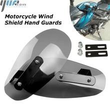 Schwarz Motorrad Wind Schild Griff Transparent Hand Guards Für YAMAHA V MAX 2009 2016 TBM 850 TDM900 Honda BMW Kunststoff