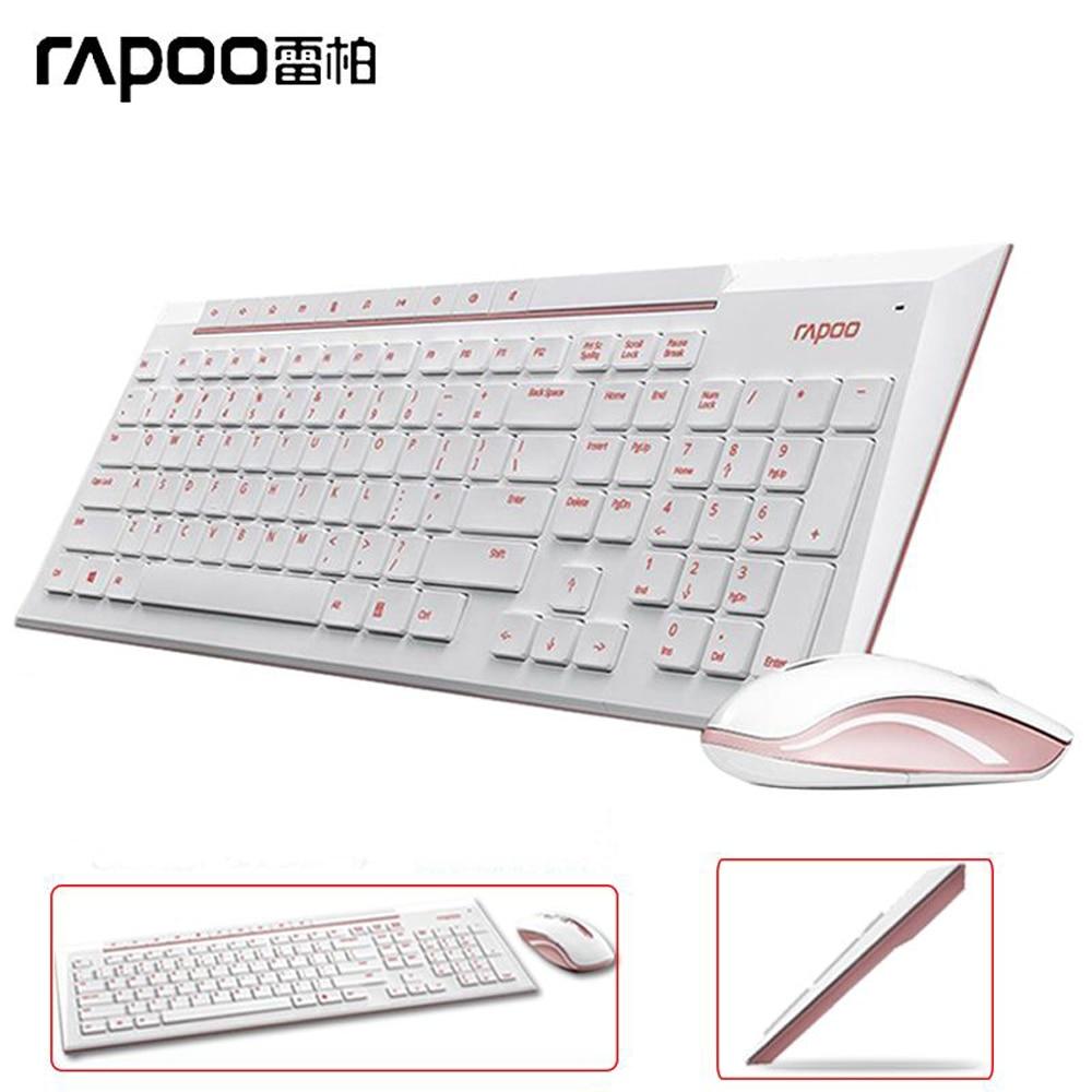 Rapoo 8200P wireless mouse keyboard spill-resistant Slim Keyboard Combo Laptops Desktops PC - Sunpoche Computer Peripherals Store store