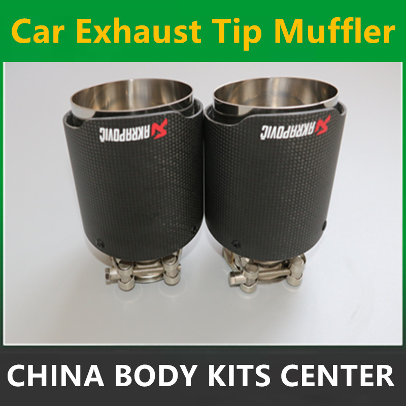 2PCS: ID 51mm 54mm 57mm 60mm 63mm OD 101mm Stainless Steel Akrapovic Carbon Fiber Car Exhaust Tip Muffler Customized End Pipes 11 11 free shippinng 6 x stainless steel 0 63mm od 22ga glue liquid dispenser needles tips