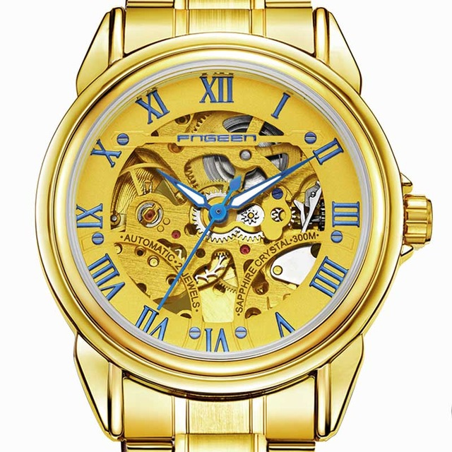 Automatic mechanical watch han edition business double-sided hollow-out men watch waterproof mechanical watches