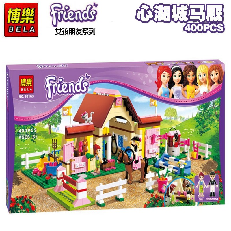 New Bela Friends 10163 Heartlake Stables Girls Mia s Farm Building Blocks 400pcs set Bricks toys