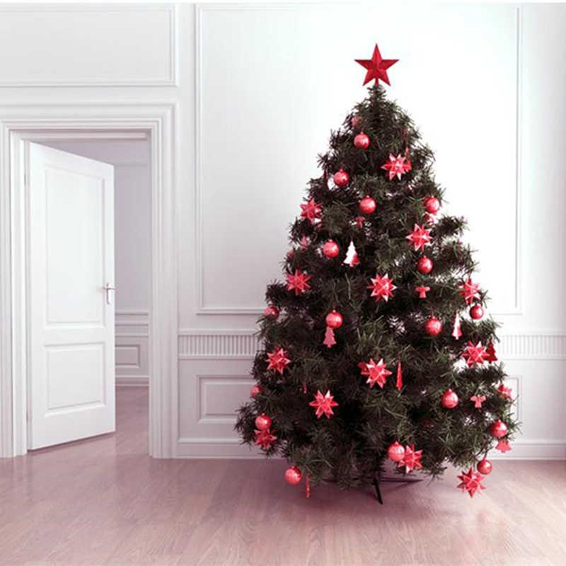 6 นิ้วสีแดง Glittered มินิดาวคริสต์มาสต้นคริสต์มาส Topper