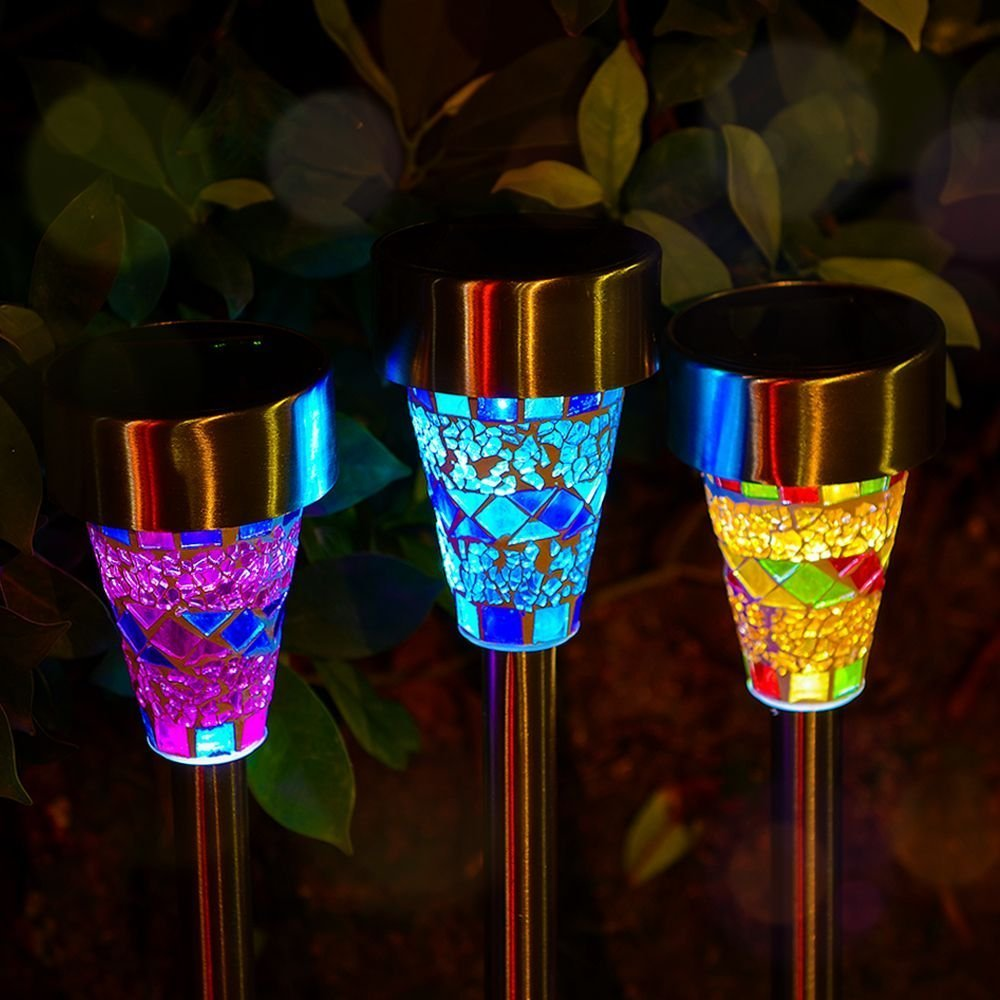 6pcs 3pcs Lot Solar Garden Light Solar Led Garden Mosaic