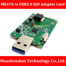 High Quality 100% NEW BRAND MSATA to USB3.0 Solid State Disk Adapter Card MINI PCI-E SSD Adapter Card without contain SSD