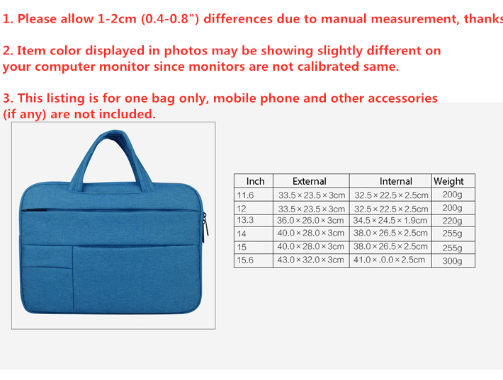 Image 5 - 12   15 Laptop Bag Portable Men Briefcase Multi function Notebook Computer Bag Male Simple Office Business Handbag for Dell HP-in Laptop Bags & Cases from Computer & Office
