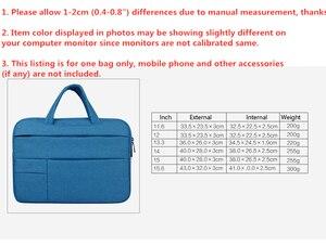 Image 5 - Bolsa para ordenador portátil de 12 15 pulgadas para hombre, maletín para ordenador portátil multifunción, sencillo, para oficina, negocios, Dell, HP