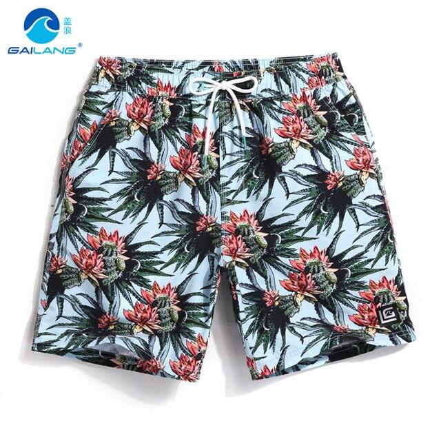 Крышка волна Корейских пляжные брюки цветок печать мужчины quick dry приморский праздник отдых туризм свободные шорты с вкладышем