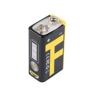 Image 5 - 1 chargeur dusb de batterie au Lithium Rechargeable de 9V 550mAh pour le Microphone de multimètre