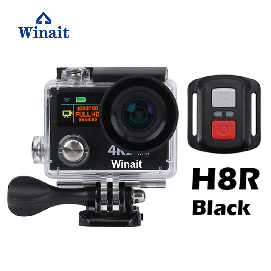 Winait 12mp Super 4k Waterproof digital action camera with dual display, 170 degree wide angle sports video camera Free shipping цена