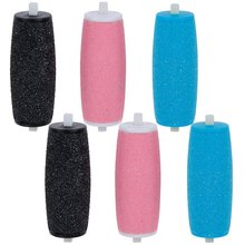 4  PEDI EXTRA Hard Skin Remover Coarse Replacement Rollers Heads for Scholl Velvet Smooth Express Refill Diamond Co Frosted head