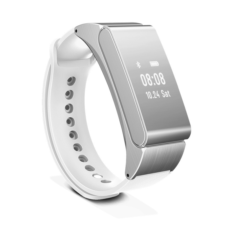 Astuto Della Vigilanza Del Braccialetto Talkband M8 Cuffia Senza Fili di Bluetooth Auricolare Parlare Fascia Pedometro Fitness Monitor Wristband PK Huawei B2