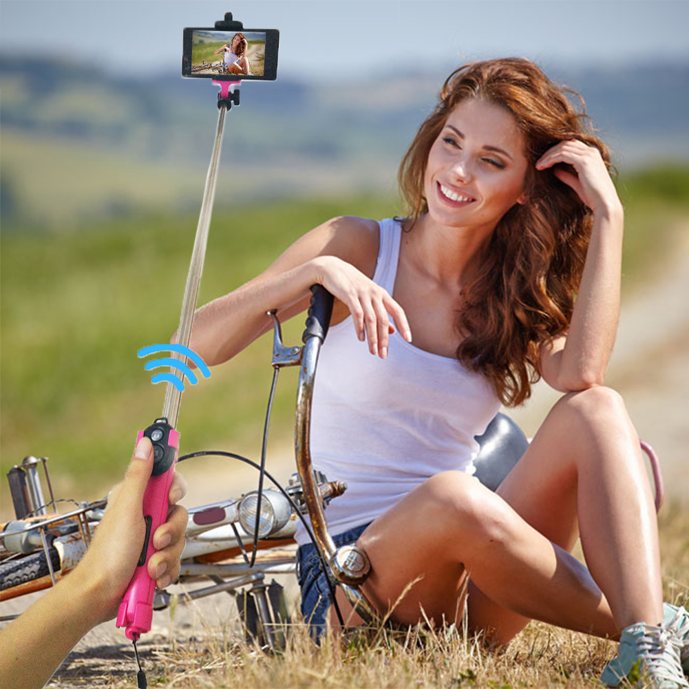 Portable Monopod Bluetooth Remote +Selfie Stick Tripod+ Monopod + 3 in 1 Handheld Extendable Selfie Stick for Samsung iPhone штатив monopod z07 5 bluetooth pink for selfie