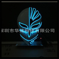 New DC 3V Fashion Halloween Cosplay Flashing Vendetta Mask el wire LED Mask glowing Neon MASK as Festival Carnival Party Mask