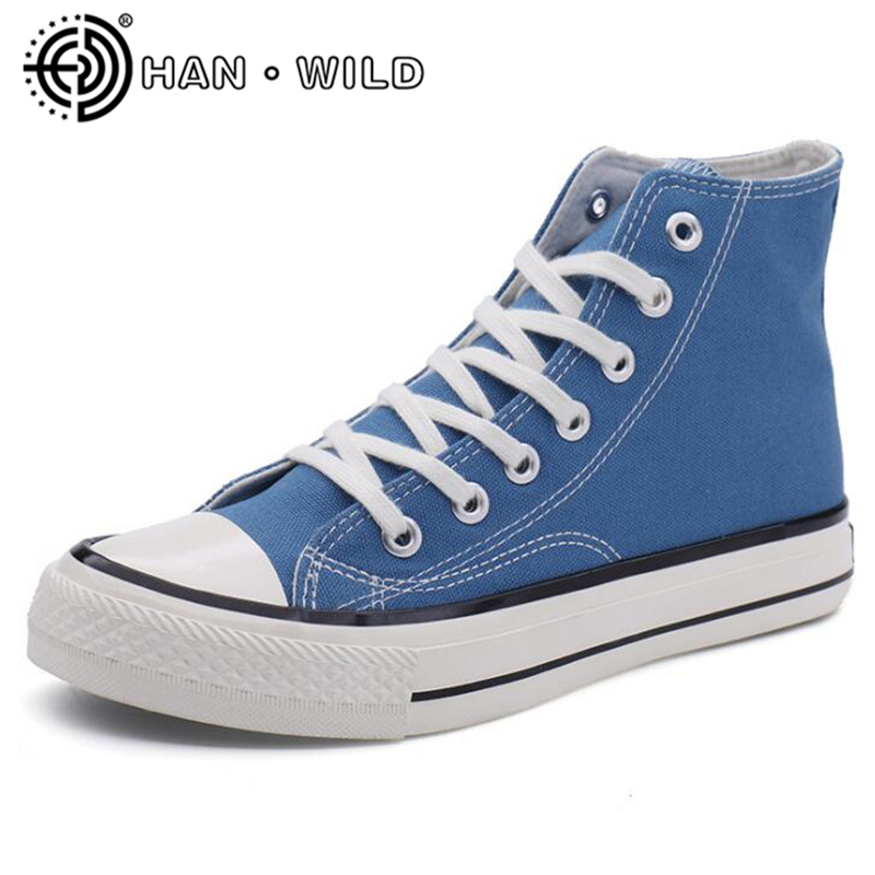 Canvas Shoes Vulcanized-Sneakers High-Top Flats-Chaussure Trainers Classic Casual Fashion