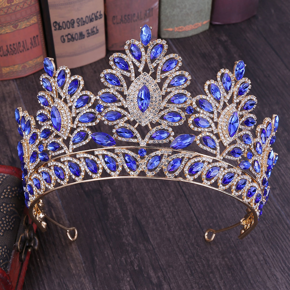 Image 5 - KMVEXO 2019 New Vintage Baroque Tiara Crowns Queen King Bride Pink Crystal Crown Pageant Bridal Wedding Hair Jewelry Accessories-in Hair Jewelry from Jewelry & Accessories