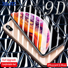 XSDTS Tempered Glass For iPhone X XS Max XR 8 7 6 6s Plus 10 9D Curved Full Cover Screen Protector(China)
