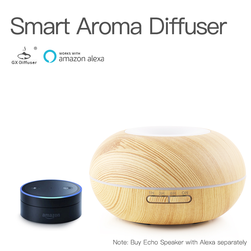 GX.Diffuser 300ML Smart Wifi Essential Oil Aromathery Diffuser Mist Humidifier With App Voice Control Aroma Diffuser все цены