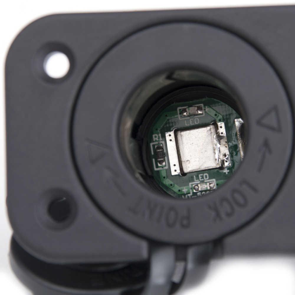 4.2A Cigarette Lighter Dual USB Universal 12/24V Car-charger LED Power Socket Charger Panel For Car Boat Motor 12V Car Socket