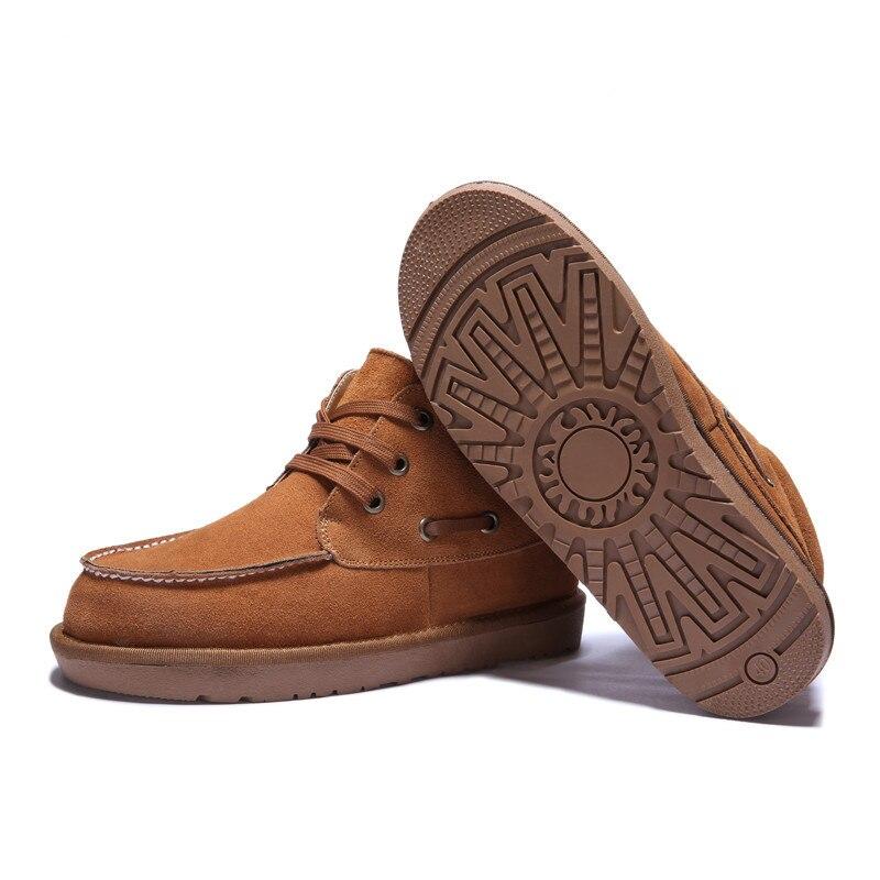 Bottes Taille Hommes Chaussures D'hiver De blue Cheville Bois coffee Plat Chaud Black Grand 2018 Solide Casual forme 48 Fourrure Cuir Plate Neige Étanche brown En dH4wpxd
